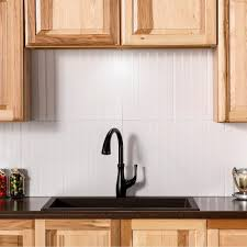 white tile kitchen backsplash. Delighful Kitchen Vinyl Backsplash In Gloss White To Tile Kitchen K