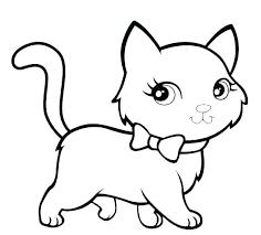 Kitten Colouring In Coloring Kitten Coloring Pages For Kindergarten