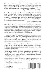 political theory and the modern state essays on state power and  political theory and the modern state essays on state power and democracy amazon co uk david held 9780745606200 books