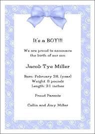 Baby Boy Announcements Templates Baby Birth Announcement Wording Ideas Biggroupco Co