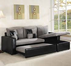 Bedroom Pull Out Bed Sectional Sofa Be Equipped With Grey And Black