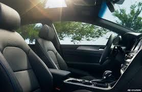 2018 hyundai sonata front interior leather seats