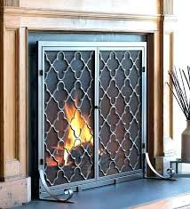decorative wrought iron fireplace screens s s s decorative cast iron fireplace screens