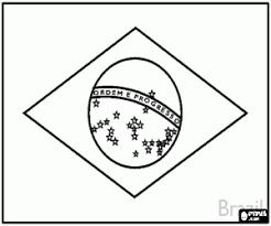 Kleurplaat Vlag Van Brazilië Kleurplaten