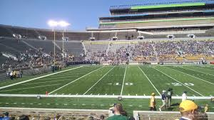 Notre Dame Football Seating Chart Rows Notre Dame Stadium Section 12 Rateyourseats Com