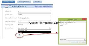 Employee Training Tracking Template Access Employee Training Access Database Template