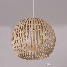 round bamboo e27 pendant lamp handmade weaving wood pendant light hanging lamp antique simple study home lighting g068 blue pendant lighting pendant lamp