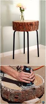 log coffee table with glass top diy rustic log side table instructions raw wood