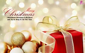 merry christmas wishing gift wallpaper quote