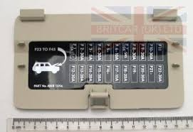 ebd100000smk cover seat base fuse box xa> rr p38 land rover image of ebd100000smk a cover seat base fuse box xa> rr p38