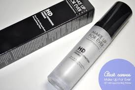 clear canvas make up for ever hd microperfecting primer a pop of colour