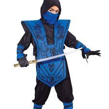 Spirit Halloween Size Chart Blue Ninja Halloween Costume