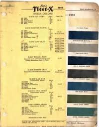 Details About 1949 Buick Color Chip Paint Sample Chart Brochure