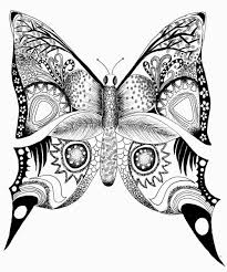 Difficult butterfly colouring pages - Color Zini