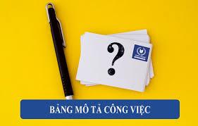 Bản Mô Tả Công Việc Là Gì, Muốn Lập Đúng Cần Biết Điều Này – VinaTrain Việt  Nam