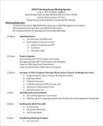 Work Meeting Agenda 8 Work Agenda Templates Free Sample Example Format