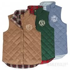 Monogrammed Sweatshirts, Vests & Pullovers   Outerwear   Marleylilly & monogrammed reversible vest Adamdwight.com