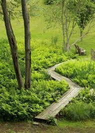 simple and affordable wooden garden path ideas 18