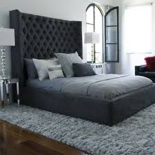 Wonderful Tall Black Tufted Headboard 44 For Interior Designing Home Ideas  with Tall Black Tufted Headboard