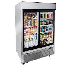 2 sliding glass door reach in refrigerator double glass door commercial fridge 54