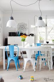 Blue tolix dining chair via Lina Ostling