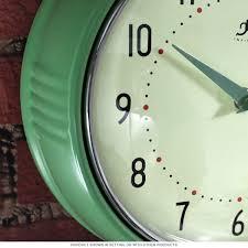 Retro Kitchen Wall Clocks Green Fifties Style Kitchen Wall Clock Infinity Wall Clocks