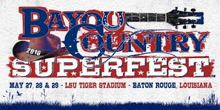 Bayou Country Superfest Seating Chart 2016 Tickets Go On Sale For Bayou Country Superfest