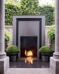 Modern Outdoor Fireplace Designs A Talent With Boxwood Outdoor Fireplace Designs Fireplace