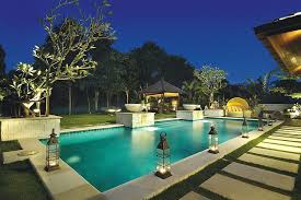 outdoor lantern lighting. Gorgeous Tropical Pool With Lantern Lighting And A Gazebo In The Distance Outdoor O