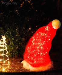 diy santa hat tomato cage decor an easy yard art display the