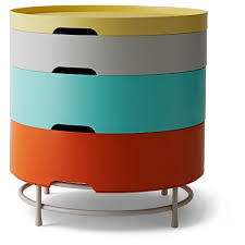 ... Coffee Table, Enchanting Yellow, Gray, Blue, And Red Round Unusual  Metal And ...