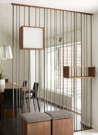 decoration beautiful midcentury modern house foyer decoration with original modern half wall room dividers by steel rod screen room divider design ideas