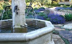 vintage french limestone fountains