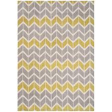 chevron rug yellow and grey