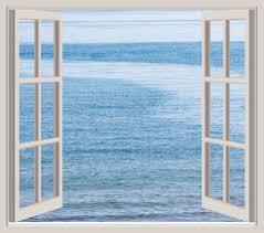 Ocean Through Window Frame