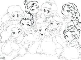 Baby Disney Characters Coloring Pages Dksahame