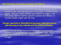 how to write a thesis statement what is a thesis statement the  23 world hunger has many causes and effects