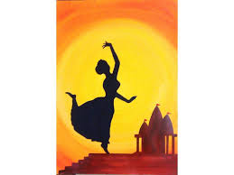indian silhouette painting print home decor by colormela