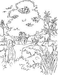 Kleurennu Adam En Eva In Het Paradijs Kleurplaten
