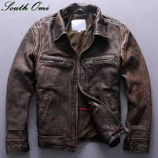 mens distressed brown leather moto jacket google search