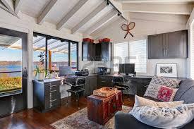 beautiful home interior designs. Bright Beautiful Home Office Interior Design With Classic American Style. Photo Designs R