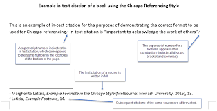 chicago citing and referencing library guides at monash university examples in text bibliography