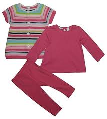 First Impressions Baby Shoes Size Chart First Impressions Baby Girls 3 Piece Stripe Sweater Top Leggings Set