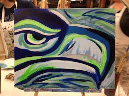 wine and painting tacoma my first time painting the wine helped gohawks seahawks yelp picture