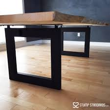 Square Pedestal Kitchen Table Modern Square Legs From Stump Standards Llc Pedestal Kitchen
