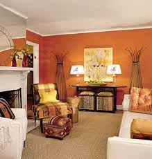 Burnt Orange And Brown Living Room Concept Impressive Decorating