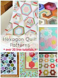 Hexagon Quilt Pattern 20 Designs and Ideasto Sew Your Next Hexie Quilt & hexagon quilt pattern Round up. Over 20 free patterns and tutorials |  patchwork posse # Adamdwight.com