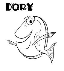Dory Personaggio Alla Ricerca Di Nemo Da Colorare Per I Bambini E Le