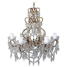 six light crystal macaroni beaded chandelier
