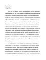 hist state university of new york college at oneonta course hero 2 pages aaron burr and alexander hamilton essay
